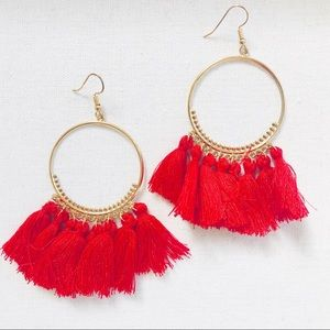 Loop & tassel earrings